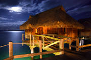 bora bora, over water, sofitel, motu, tahiti, moonrise