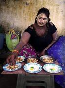 Thanaka, street vendor, burma, myanmar, yangon, culture, portrait