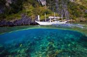 el nido, over under, split level, underwater, bangka boat, tour D, snorkeling, cadlao lagoon, island