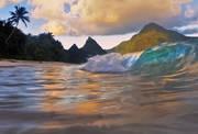 ofu beach, ofu island, national park of american samoa, south pacific beach, waves, sunset, white sand beach, palm