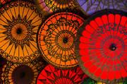 parasols, umbrellas, burma, myanmar, culture, color
