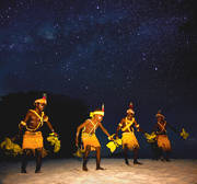 sing sing,stars,tsoi lik,papua new guinea culture,traditional dance, island, kavieng, tambaran, night