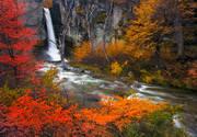 waterfall, autumn, patagonia, el chalten, salto el chorillo, fall, lenga, lire, river, los glaciares