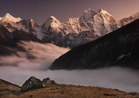 kangtega,himalaya sunset,everest trek pictures,nepal trekking pictures,nepal landscape photo,lobuche