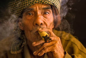 burma, smoker, portrait, cherub, myanmar, traditional, culture, people, old man