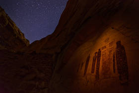 ghost, great gallery, stars, canyonlands, pictographs, anasazi, ruins, ancient puebloans, rock art