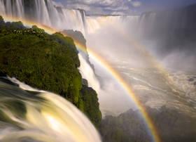 Iguazu falls,rainbow,waterfall,rainforest,brazil,la garganta del diablo,iguacu,cataratas