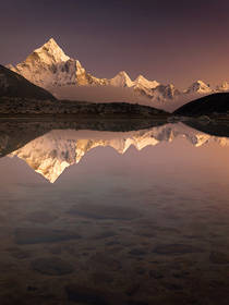himalaya sunset,himalaya picture,himalaya photo,himalaya lake,everest trek photo,reflection