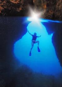 raja ampat, passage, cave, cavern, underwater, diving, snorkeling, island, gam