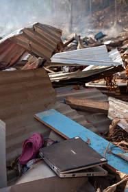 samoa tsunami, lalomanu, taufua, destruction, photos, pictures, personal effects