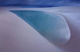 lencois maranhenses, salvador dali, brazil, national park, laguna azul, barreirinhas, sand dunes, beach,