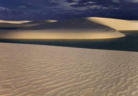 lencois maranhenses, sand dunes, shadows, lagoons, brasil, ripples, brazil