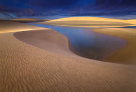 lencois maranhenses, sand dunes, brazil beach, lakes, sunrise, ripples, south america