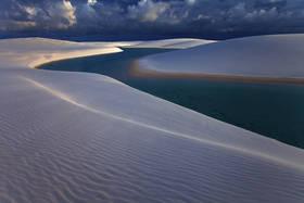 lencois maranhenses, sand dunes, sunset, lagoon, barreirinhas, white sand, beach, brazil, brasil
