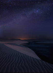 lencois maranhenses, sand dunes, night photography, milky way, stars, barreirinhas, brasil, brazil, desert