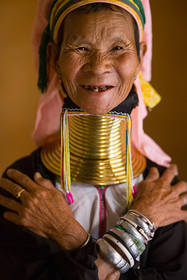 Long neck women, myanmar, burma, tribe, culture, gold rings, portrait, southeast asia