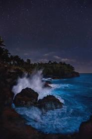 stars, american samoa, starlight, turtle and shark, blowhole, tutuila, photos, south