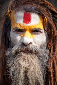 pashputinath,kathmandu photo,hindu portrait,sadhu portrait,nepal culture,painted