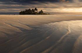 maina island, aitutaki, cook islands, photos, pictures, dunes, oasis, sunset