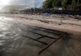 samoa tsunami, pictures, photos, destruction, lalomanu, aftermath, litia sini's, bea