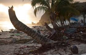 samoa tsunami, photos, pictures, destruction, lalomanu, taufua, litia sini