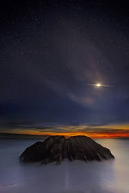 seychelles,night sky,stars,indian ocean,sunset,anse source d'argent,beach,la digue island
