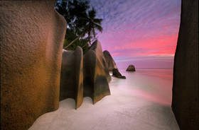 seychelles beach,la digue,,anse source d'argent,sunset, boulders,beaches,tropical island
