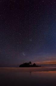 night,photography,stars,cook,island, reflection,maina,aitutaki,galaxy,magellanic