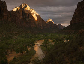 Storm Light over the Gates of Zion