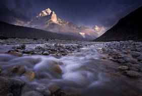 ama dablam photo,everest trek pictures,ama dablam picture,himalaya picture,sunset