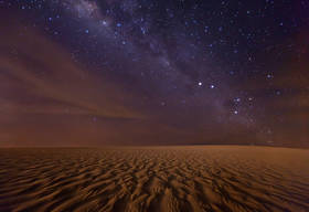 mars, red planet, stars, milky way, night, sand dunes, jericoacoara, brazil, southern cross