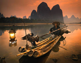 cormorant fisherman,guilin,china landscapes,Li River,HSBC,classic china landscapes