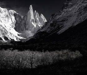 patagonia photo,patagonia picture, patagonia winter,cerro torre,autumn,black and white,el chalten