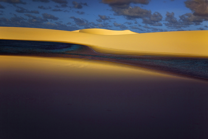 lencois maranhenses,sand dunes,lakes,lagoa,laguna,sunset,clouds,brazil landscapes,brasil,sao luis, photo
