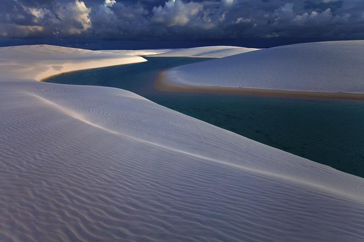 lencois maranhenses, sand dunes, sunset, lagoon, barreirinhas, white sand, beach, brazil, brasil, photo