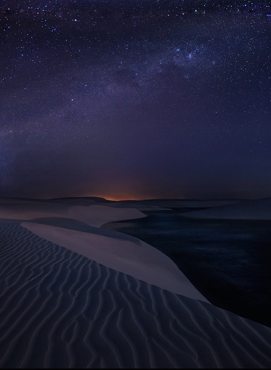lencois maranhenses, sand dunes, night photography, milky way, stars, barreirinhas, brasil, brazil, desert, photo