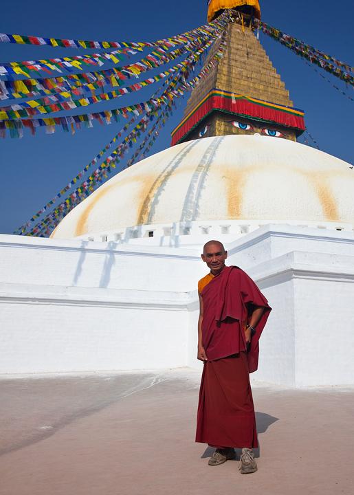 monk,kathmandu,bodhnath,nepal, photo