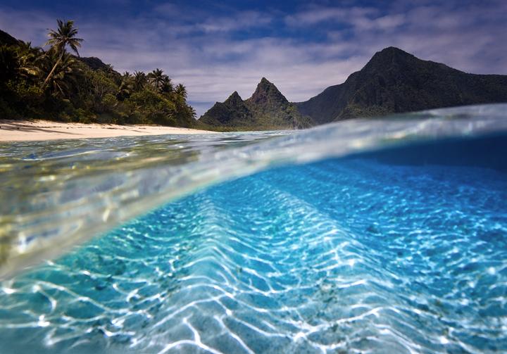 ofu island,samoa beach,american samoa,national park,underwater,secret beaches, photo