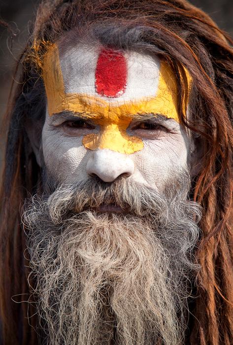 pashputinath,kathmandu photo,hindu portrait,sadhu portrait,nepal culture,painted, photo