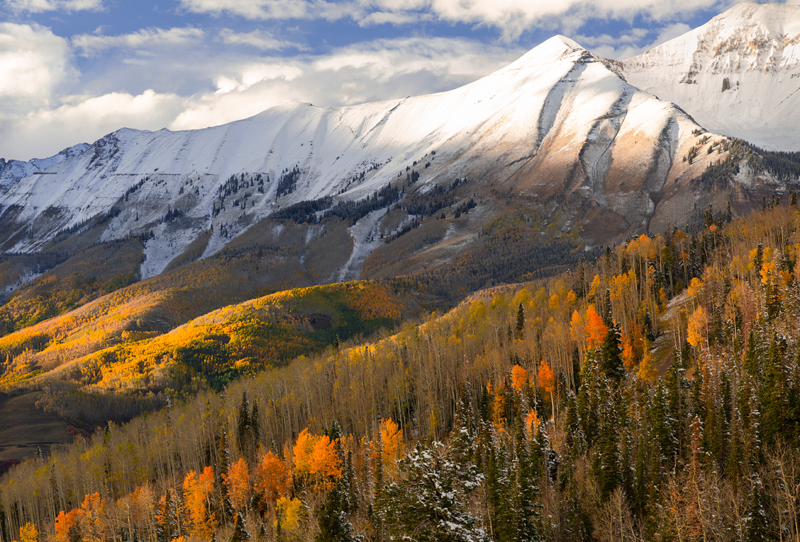 Colorado, San Juan, Mountains, Autumn, Telluride, snow, San Sofia, Campbell, photo