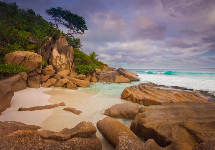 petite anse,seychelles,la digue,eden,beach,white sand,paradise,cove,indian ocean, photo