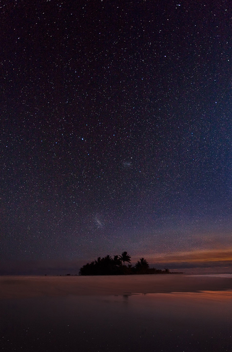 night,photography,stars,cook,island, reflection,maina,aitutaki,galaxy,magellanic, photo
