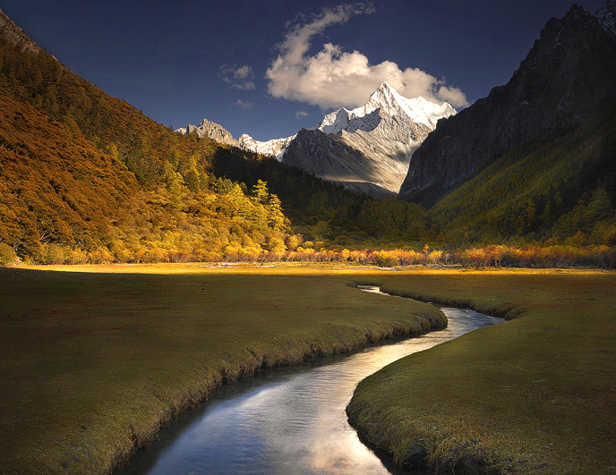 yading picture,yading trek,yading photo,Chanadorje,tibet picture,china,yading fall,kora trek,daocheng, photo