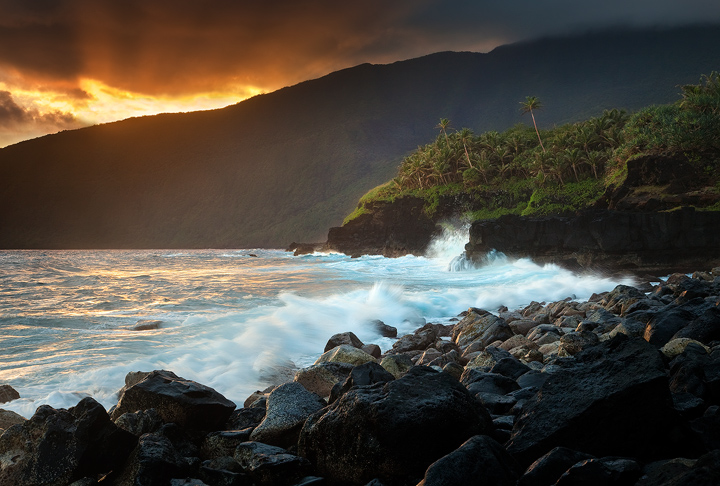 The South coast of Ta'u island has some of the most spectacular scenery in the Pacific. It is wild, pristine and seriously remote...