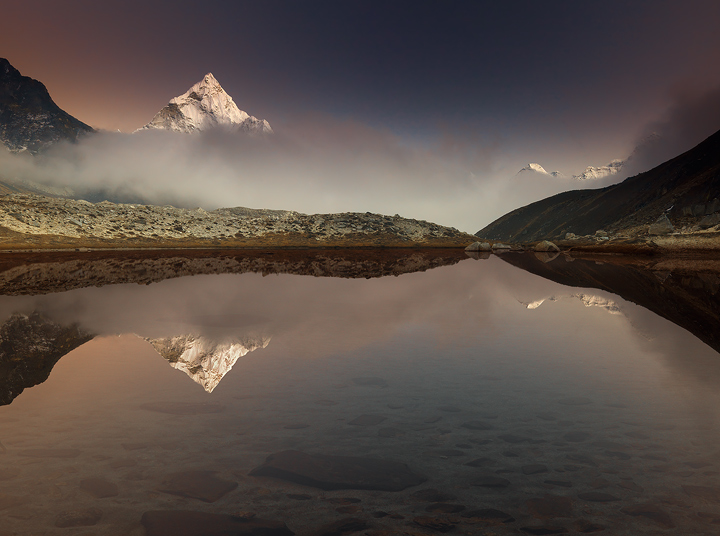 everest,base camp,trek,ama dablam,photo,lake,reflection,nepal,himalaya, photo