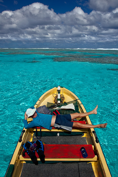 Fred Perron, adventurer extraordinaire, shows us his favorite places on the lagoon. He's living the dream