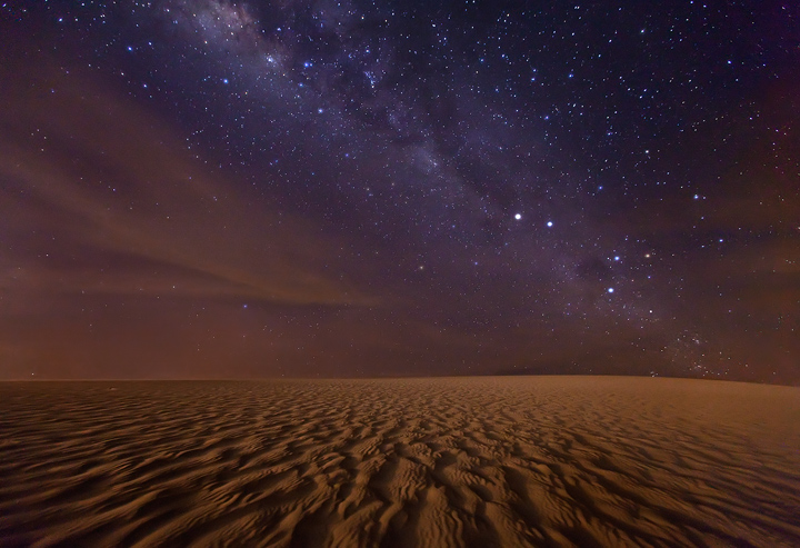 mars, red planet, stars, milky way, night, sand dunes, jericoacoara, brazil, southern cross, photo